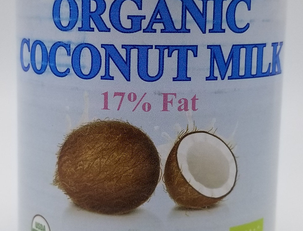 Organic Coconut Milk 17% Fat  400g NON-GMO