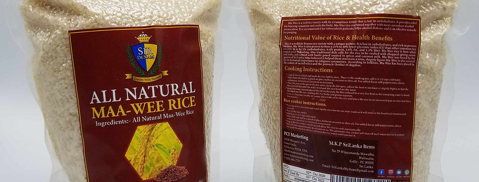 All Natural Maa-Wee Rice 2. lb - Vacuum packed