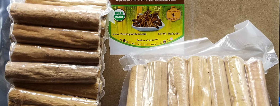 All Natural Ceylon Cinnamon Stick H1 Grade- 1kg(2.2lb)- Vacuum packed