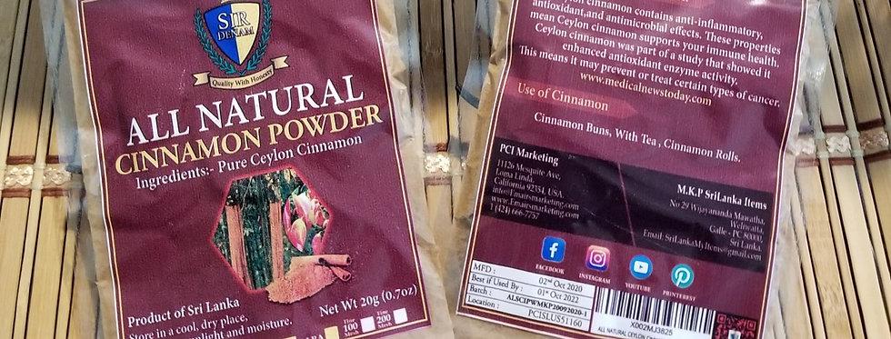 All Natural Ceylon Cinnamon Powder - 20g