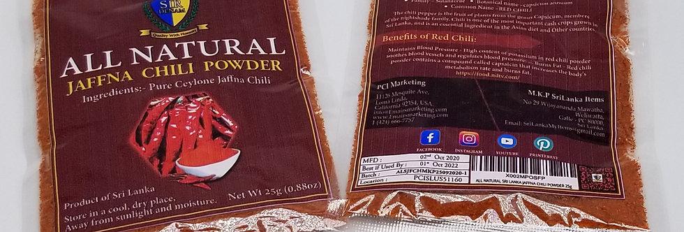 All Natural-Sri Lanka Jaffna Chili Powder 25g