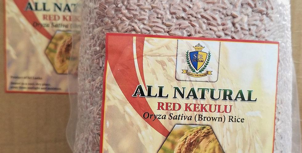 All Natural Red Kekulu - Oryza Sativa (Brown) Rice (12 lb)
