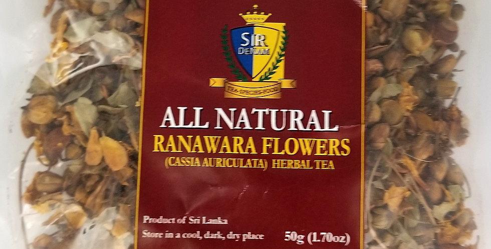 2-Pack Ranawara Flowers (Cassia Auriculata) Herbal Tea 50g All Natural