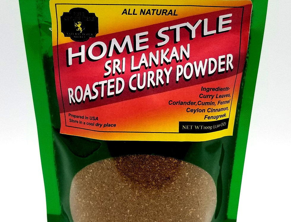 All Natural -  Home Style Sri Lankan Roasted Curry Powder Net wt 100g (3.50) oz