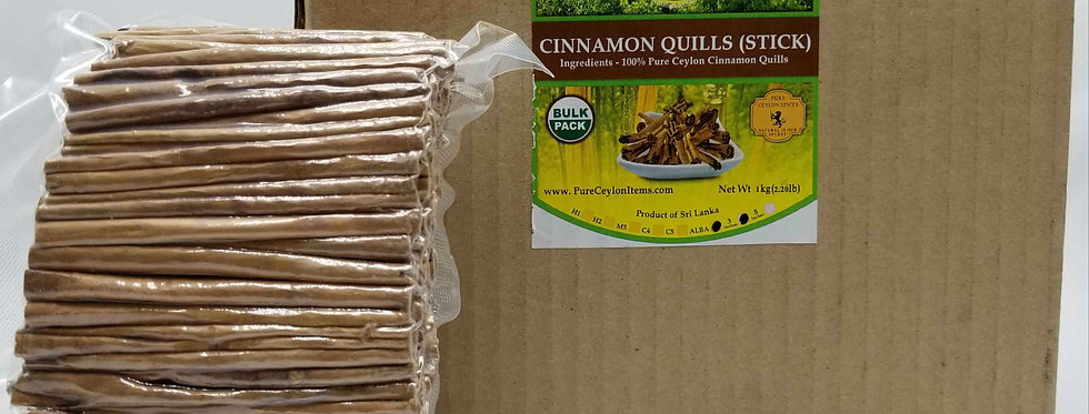 "All Natural Ceylon Cinnamon Stick 3 "" (ALBA-Grade) -1kg (2.2lb) - Vacuum packed"