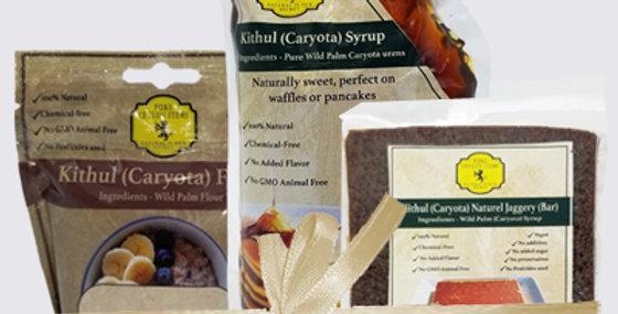 Kithul Product Bundle - Syrup(Pani)/ Jaggery/Flour