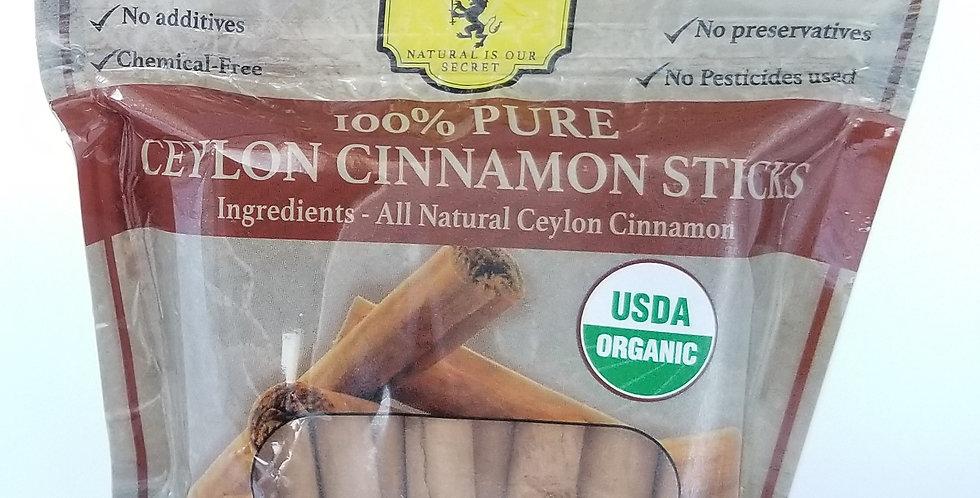 Organic Ceylon Cinnamon Stick - 50g