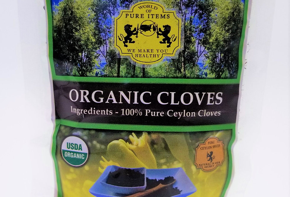 Organic Ceylon Whole Cloves - 70g - NOW 100g