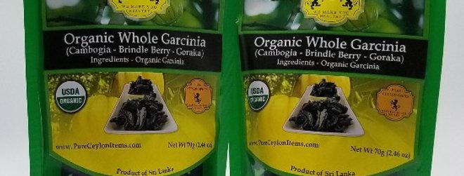 Organic Whole Garcinia Cambogia (Brindle Berry-Goraka) - 70g