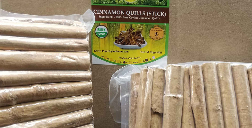 All Natural Ceylon Cinnamon Stick C4 Grade- 1kg(2.2lb)- Vacuum packed