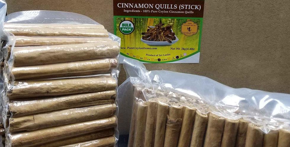 All Natural Ceylon Cinnamon Stick C5 Grade- 1kg(2.2lb)- Vacuum packed