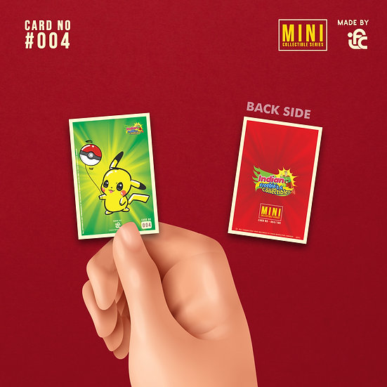 Chibi Cute Pikachu Collectible Card by IFC