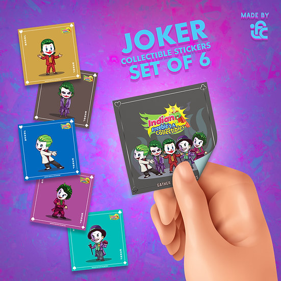 Cute Jokers Silver Premium Collectible Stickers by IFC