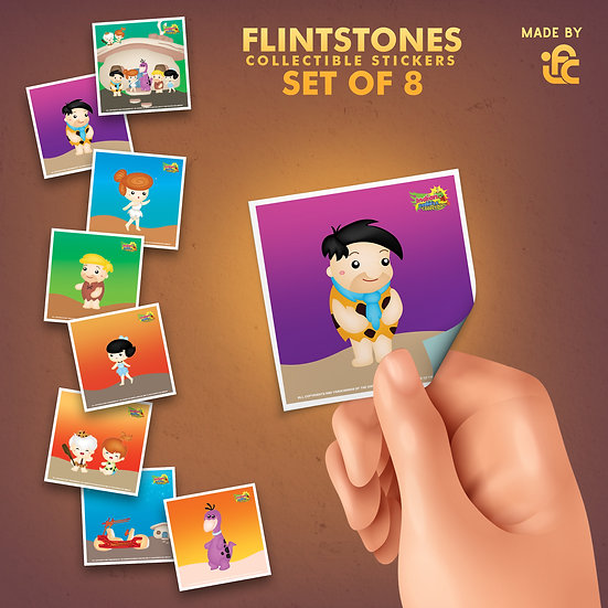 Flintstones Collectible Stickers by IFC