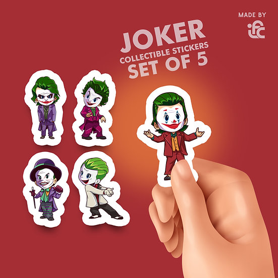 Joker Collectible Stickers by IFC