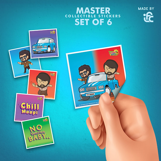 Master Chibi Collectible Stickers by IFC