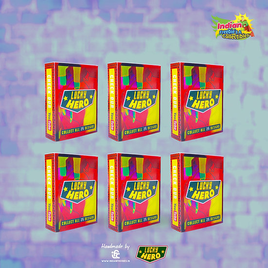 Lucky Hero Matchbox Collectibles ( Pack of 6)