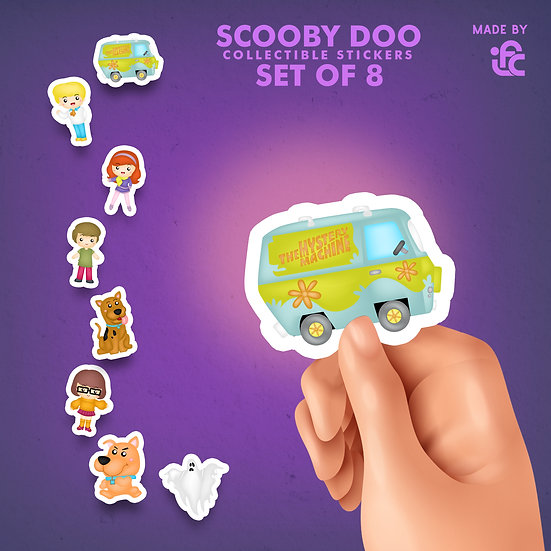 Scooby Doo Collectible Stickers by IFC