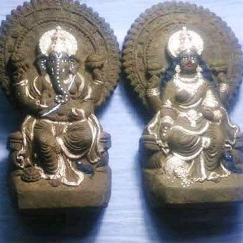 """Gaumay Laxmi Ganesh Murti 7"""""""