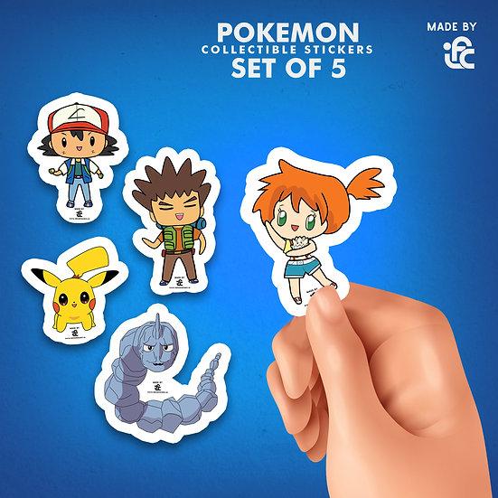 Chibi Pokemon Collectible Stickers by IFC