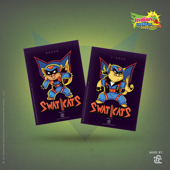 SwatKats Collectible Edition Cards