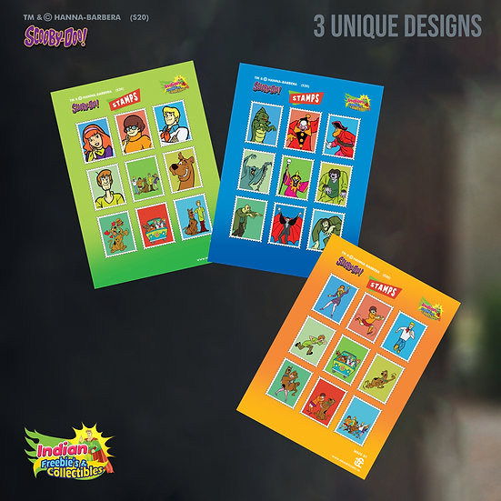 Scooby-Gang & Villains Stamp Stickers