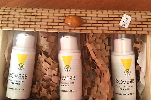 Proverb Lifefuelled Skincare for Men Travel/Try Me Size Facial Set