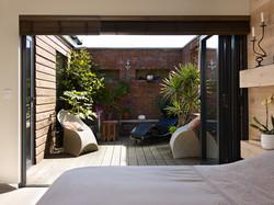 Master bedroom roof terrace