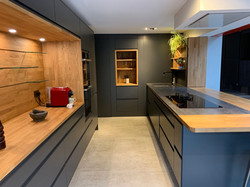 Kitchen with hidden cellar door