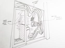 Shop front sketch