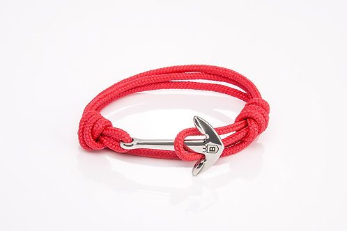 Anchor bracelet red nautical rope