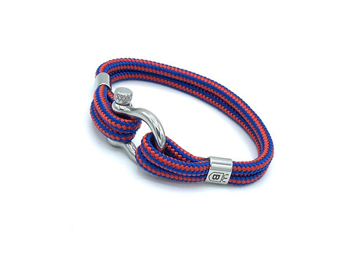 Exeo bracelet blue with red cape