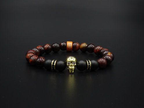 "Pulsera Aura ""The Black Pearl"" Brown"
