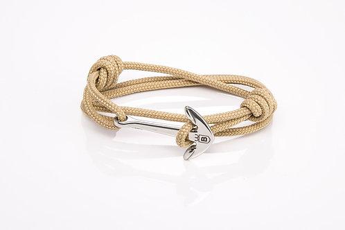 Anchor bracelet nautical nautical cream