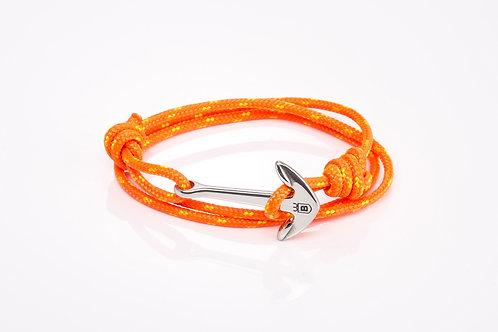 Pulsera Áncora cabo náutico naranja