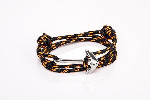 Black Nautical Cape Anchor bracelet