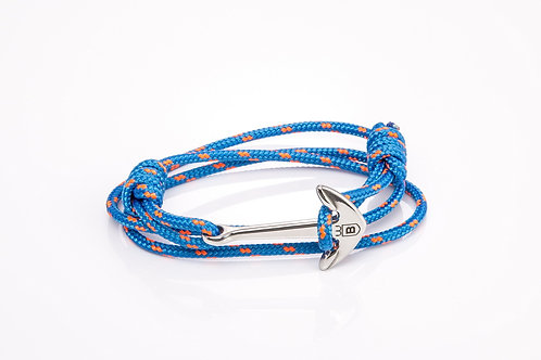 Blue and pink nautical Cape Anchor bracelet