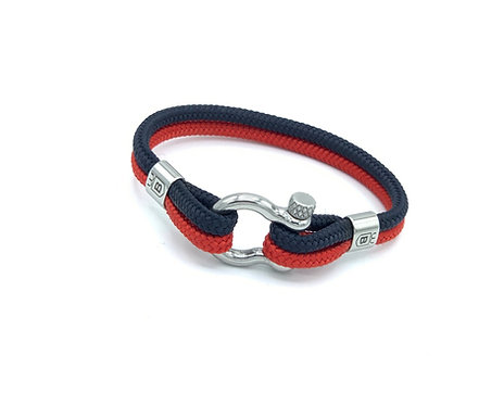 Exeo bracelet blue and red