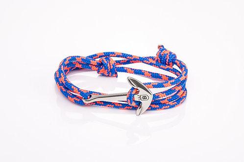 Bracelet Áncora cabo nautico azul