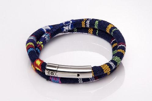 Aquos natural black leather bracelet