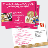 Postcard design print using mailing list.