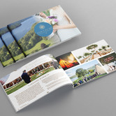 Brochure design and print for new local wedding venue.
