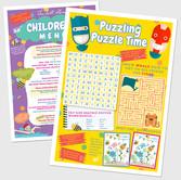 Childrens Activity Menus