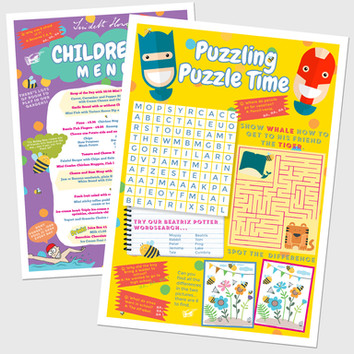 Childrens Activity Menus