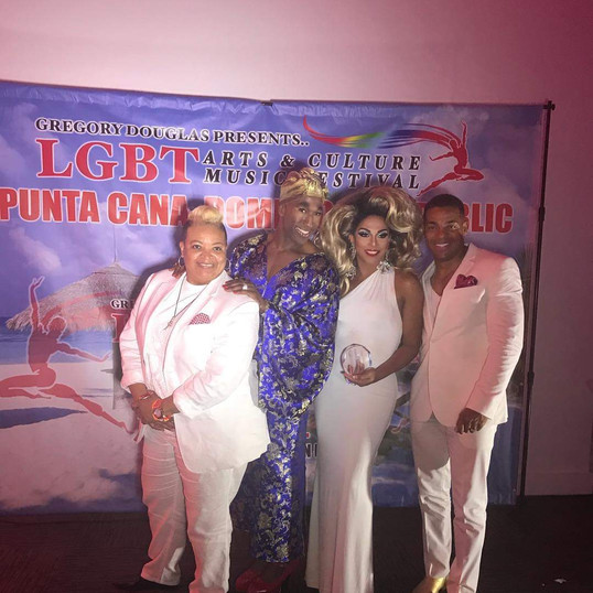 Davin and Gwen LGBT Festival in Punta Cana with James Chanel Wright and Shangela