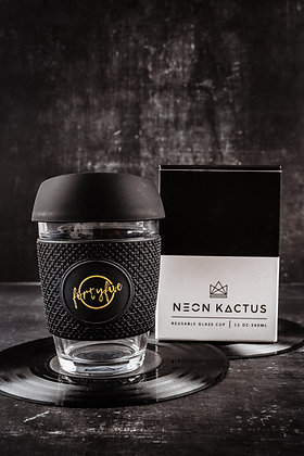 Neon Kactus Glass Keep Cup (12oz)