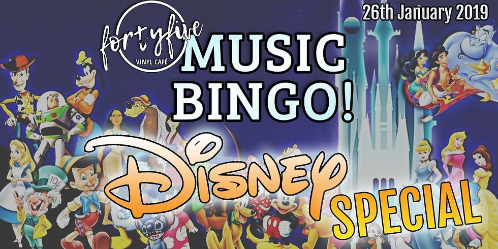 FortyFive Music Bingo! Disney Special