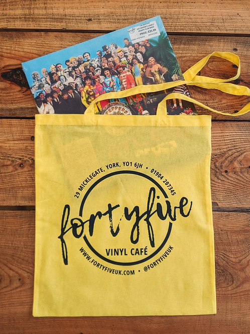 FortyFive Tote Bag (Yellow)