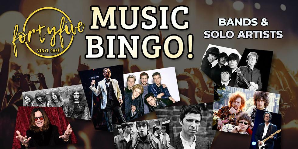 Music Bingo: Bands & Solo Artists