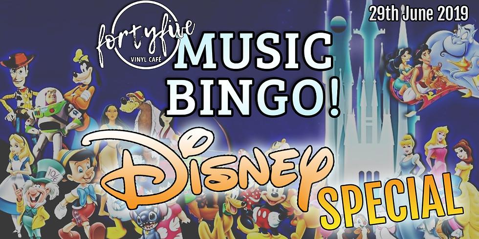 Music Bingo Disney Special!